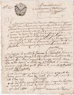 PAPIER TIMBRE DE DIMENSION TARIF DE MESSIDOR AN III - Revenue Stamps