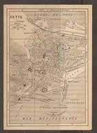 CARTE PLAN 1927 - CETTE - NOUVEAU CASINO PHARE St CLAIR BATTERIE DOUANE STATION ZOOLOGIQUE USINE SCHNEIDER - Topographical Maps