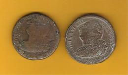 Monnaies Constitutionnelles  Françaises Louis XVI Roi Des Francois Lot 2 Pièces 2 Sols 1792 - 1789-1795 Franz. Revolution