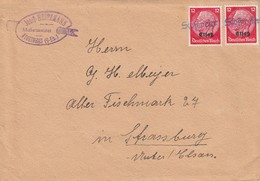 Env Affr Michel Elsass 7 X 2 Obl Stoßweier Adressée à Strassburg - Elsass-Lothringen