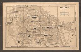 CARTE PLAN 1927 - ORANGE - GYMNASE THÉATRE ANTIQUE SAMSON TERRASSEMENT Le LION - Topographical Maps