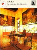 SAUMUR - Musée Arts Décoratifs - Photo Collection Céramiques   - FICHE GEOGRAPHIQUE - Ed. Larousse-Laffont - Porselein & Ceramiek