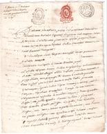 PAPIER TIMBRE DE DIMENSION TARIF DE THERMIDOR AN V - Revenue Stamps