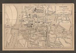 CARTE PLAN 1927 - VALENCE - LES GRANGES PARC JOUVET CASERNE ARTILLERIE BANQUE De FRANCE - Topographical Maps