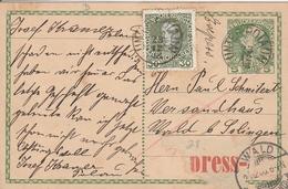 Autriche Entier Postal Par Exprès Pour L'Allemagne - Interi Postali