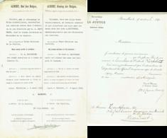 Certificat. Distinction Honorifique. Brevet Pour Médaille Chevalier De L'Ordre De Léopold II. 1931. - Royal / Of Nobility