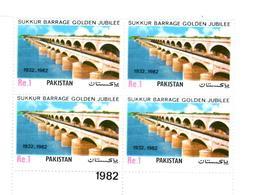 MNH STAMPS Pakistan - The 50th Anniversary Of Sukkur Barrage   -1982 - Pakistan