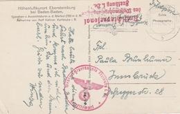 D.Feldpost / AK (Ebersteinburg) Ex Wehrmachtsgefaengnis Freiburg (BL60) - Deutschland