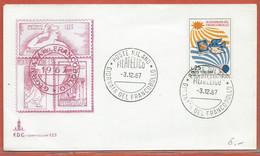 JOURNEE DU TIMBRE ITALIE FDC DE MILAN DE 1967 - Dag Van De Postzegel