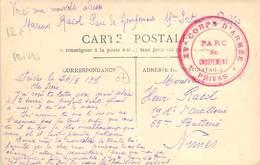 PHILATELIE / MARCOPHILIE / OBLITERATION Privas  / GUERRE 1914/1918 / CPA FRANCE 07 Grotte Des Huguenots - 1. Weltkrieg