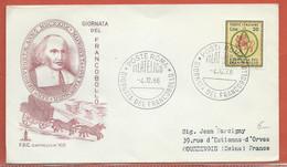 JOURNEE DU TIMBRE ITALIE FDC DE ROME DE 1966 - Dag Van De Postzegel
