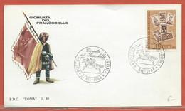 JOURNEE DU TIMBRE ITALIE FDC DE ROME DE 1964 - Dag Van De Postzegel