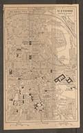 CARTE PLAN 1927 - SAINT ÉTIENNE CENTRE - ÉCOLES Des MINES ÉTABLISSEMENT Des SOURDS MUETS - Topographical Maps