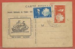 JOURNEE DU TIMBRE MARTINIQUE CARTE DE 1947 - Dag Van De Postzegel