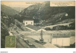 63.VALLEE DE LA SIOULE.n°15711.CONSTRUCTION DU BARRAGE ET DE L'USINE HYDRO-ELECTRIQUE DES FADES.VUE PANORAMIQUE - France