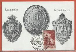 JOURNEE DU TIMBRE FRANCE CARTE MUSEE POSTAL DE 1946 - Dag Van De Postzegel