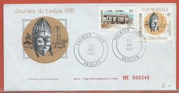 JOURNEE DU TIMBRE COTE D'IVOIRE FDC DE 1981 - Dag Van De Postzegel