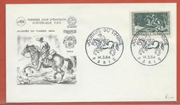 JOURNEE DU TIMBRE FRANCE FDC DE PARIS DE 1964 - Dag Van De Postzegel