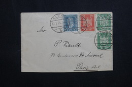 ALLEMAGNE - Enveloppe De Alzey Pour Paris En 1925, Affranchissement Plaisant - L 61942 - Storia Postale