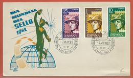 JOURNEE DU TIMBRE ESPAGNE FDC DE MADRID DE 1962 - Dag Van De Postzegel
