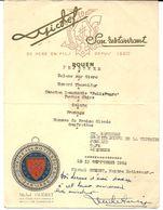 MENU 13 SEPTEMBRE 1953 MICHEL GUÉRET  MAÎTRE RÔTISSEUR BAILLI DE NORMANDIE ROUEN  76 SEINE-MARITIME - Menus