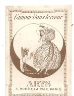 L'AMOUR DANS LE COEUR . ARYS . PARIS . 1911 - Perfume Cards