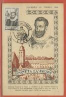 JOURNEE DU TIMBRE FRANCE CARTE MAXIMUM DE LYON DE 1946 - Dag Van De Postzegel