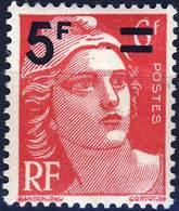 827 Marianne De GANDON Surchargée NEUF **  ANNEE 1949 - Ongebruikt