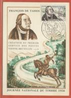 JOURNEE DU TIMBRE FRANCE CARTE MAXIMUM DE PARIS DE 1956 - Dag Van De Postzegel