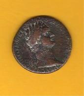 Monnaie Empire Romain Très Beau As/Dupondius De DOMITIEN En Cuivre - 2. La Dinastía Flavia (69 / 96)
