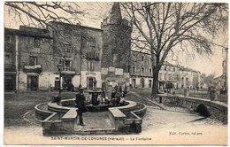 SAINT MARTIN DE LONDRES - La Fontaine   (1415 ASO) - France