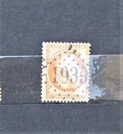 05 - 20 // France N° 38 - Cérès 40c Orange - Oblitération GC 1939 - Landrecies - Nord - 1870 Siege Of Paris