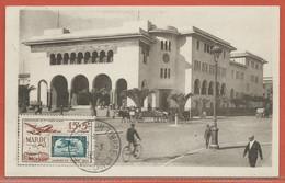 JOURNEE DU TIMBRE MAROC CARTE DE CASABLANCA DE 1952 - Dag Van De Postzegel