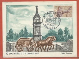 JOURNEE DU TIMBRE FRANCE CARTE MAXIMUM DE ORLEANS DE 1963 - Dag Van De Postzegel