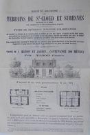 Société Anonyme  Des Terrains De Saint-Cloud Et Suresnes, 1882 - Banco & Caja De Ahorros
