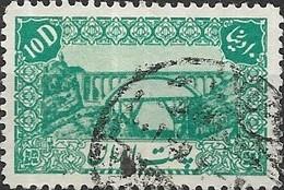 1942 Railway Bridge Over Karun River - 10d - Green FU - Irán