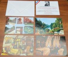 """Lot De 4 CP Cartes Postales Horaires Visites """"La Grange Batelière"""" Musée De CLEMENCEAU Surnommé Le Tigre - Années 80 - Musées"""