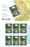 Moldova 2001 Europa: Life Giving Water.. Mi 388 X 6 In Booklet MH 0-4 MNH(**) - Moldova