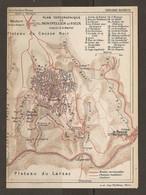 CARTE PLAN 1927 - MONTPELLIER Le VIEUX - PLATEAU Du CAUSSE NOIR PLATEAU Du LARZAC RAVIN Du RIOU SEC - Topographical Maps