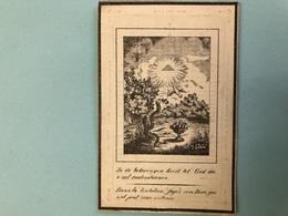 Lefevre Petrus Joannes *1787 Bavikhove Notaris Rechter Eerste Aanleg +1843 Kortrijk Oud Doodsprentje - Décès