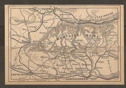 CARTE PLAN 1927 - MONTAGNE NOIRE - REVEL CASTRES MAZAMET L'ESPINOUSSE LEMPAUT CONQUES - Topographical Maps
