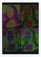 CP Allemande Utilisée. 4 Mon Lisa. 4 Joconde. Corinne Fuhrich, Göppingen. Edgar Gratis Postkarten. Leonardo Da Vinci - Paintings