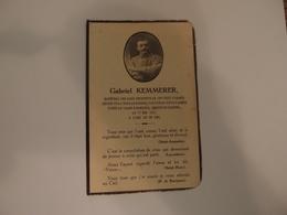 Faire-part Décès Militaire Poilu Estafette Mort Au Champ D'honneur Craonne 1917 Citation à L'ordre Du Corps D'armée - Décès