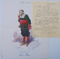 Lucien Fugère, Artiste Lyrique, Autographes, 1910 - Autógrafos