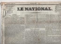 LE NATIONAL 25 03 1831 - GRECE NAPOLI DE ROMANI - MODENE - POLOGNE - BRUXELLES - FACULTE DE MEDECINE - CHATEAUBRIAND - - Journaux - Quotidiens