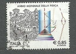 Italia, 2005 (#3022a), Anno Mondiale Della Fisica, International Year Of Physics, Internationales Jahr Der Physik - 1v - Physics