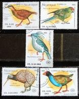 142. NICARAGUA  (05 DIFF) 1990 USED STAMP BIRDS . - Nicaragua