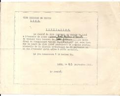 TENNIS . CLUB INDIGENE . LOME . INVITATION . FINALE DU CHAMPIONNAT . 1932 - Tickets D'entrée