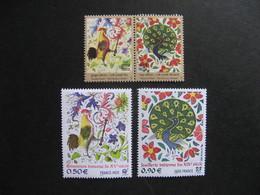 Emmissions Communes De 2003: TB Paires D'Inde N° 1765/6  Et De France N° 3629/30, Neufs XX. - France