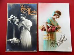 """FANTAISIES - FEMMES -  Lot De  2 Cartes  -  """" Vive Marie """" - Femmes"""